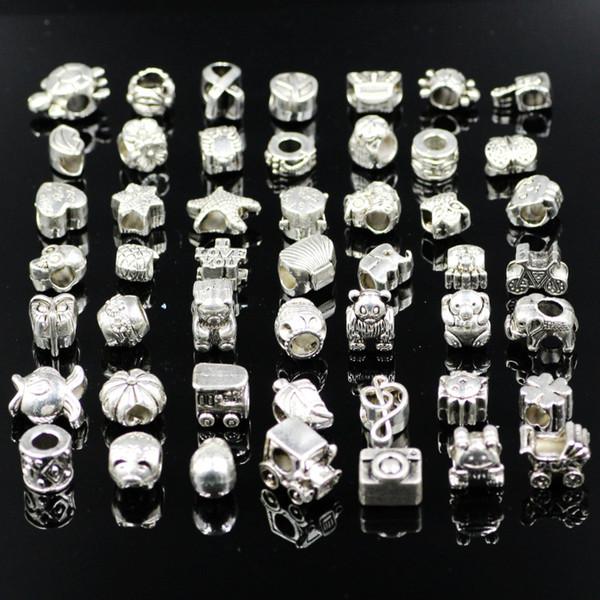 Mélanger 29 Style Grand Trou Lâche Perles Charme Pour Pandora DIY Bijoux Bracelet Pour Européenne Bracelet Collier D0165-1