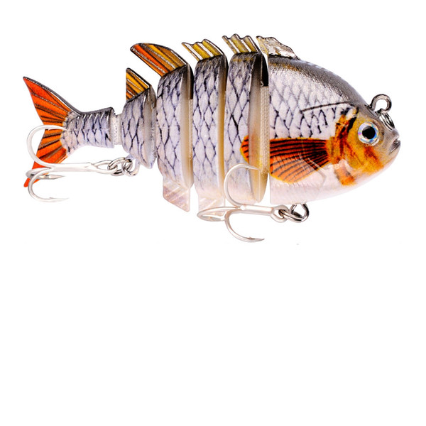 1pcs Lifelike Fishing Wobbler Plastic Hard Fishing Bait 8cm 15.5g Multi-section 6 Segment Artificial Swimbait Crankbait Lures 8 Colors
