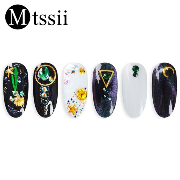 Mtssii Mixed Beads Accessories Nail Art Decoration Flat Bottom Rhinestones for Nails 3D Charming Nail Design Phone Decorations
