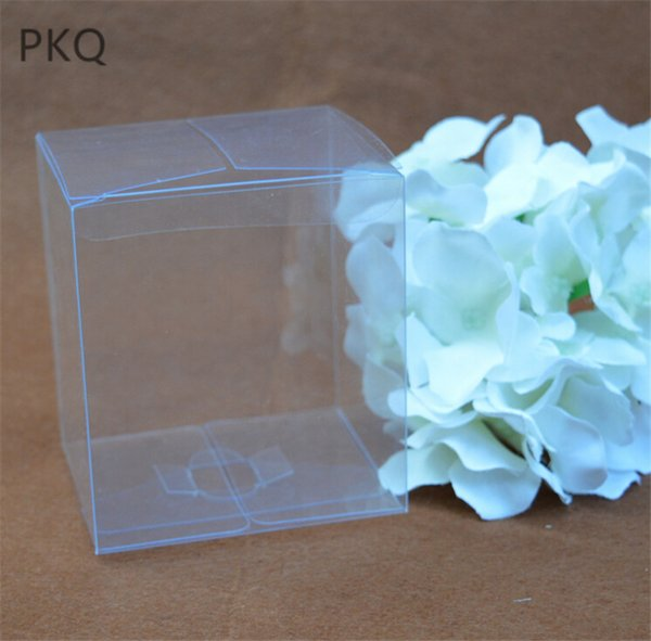 20pcs Clear Large gift box for craft/toys/cake Transparent plastic pvc box for display Square chocolate packaging 10*10*10cm