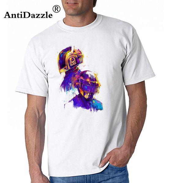 Daft Punk Robot Painting Artiste Tour Musique Hommes Femmes Unisexe T Shirt Imprimé T-Shirt Garçons Top Tee Shirt Coton Style Western