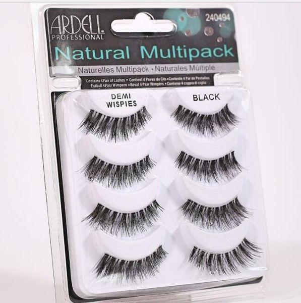 2018 ARDELL eyelashes 4pair/lot 100% Real Siberian 3D Full Strip False Eyelash Long Individual Eyelashes Lashes Extension