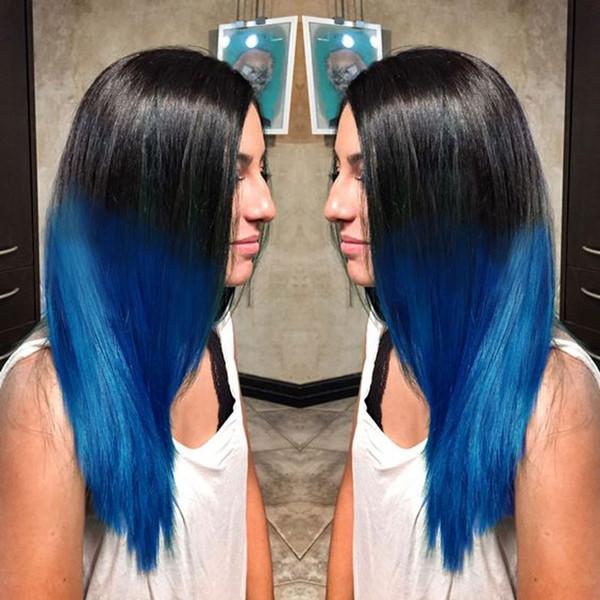 4 * 4 короткие Боб кружева перед парики Индийский Реми человеческих волос парик предварительно выщипал отбеленные узлы для женщин натуральный волос полный конец