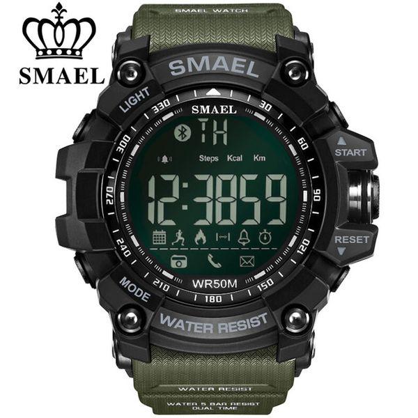 SMAEL Bluetooth Smart Uhr Sport Männlich Uhr Anruf Erinnerung Kalorien Digital Männer Smart Watche Tragbare Geräte Für iOS Android Phone