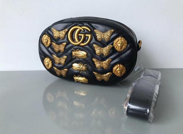 Hot brand designers Insect patterns Waist Bags women Fanny Pack bags bum bag Belt Bag men Women Money Phone Handy Waist Purse Solid Travel B