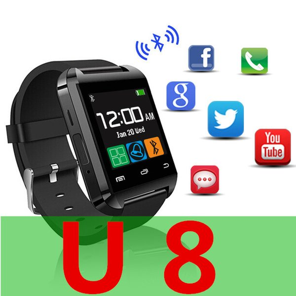 Smartwatch U8 Bluetooth Smart watch for Apple iPhone & Samsung s5 s6 HTC Huawei Xiaomi Meizu m3 Android Phone u80 Altitude Meter