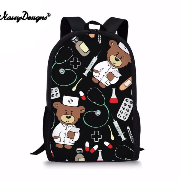 Cartoon Kid School Backpack For Child School Bag For Kindergarten Girl Baby Student Boy Cute Bear Doctor Children Back