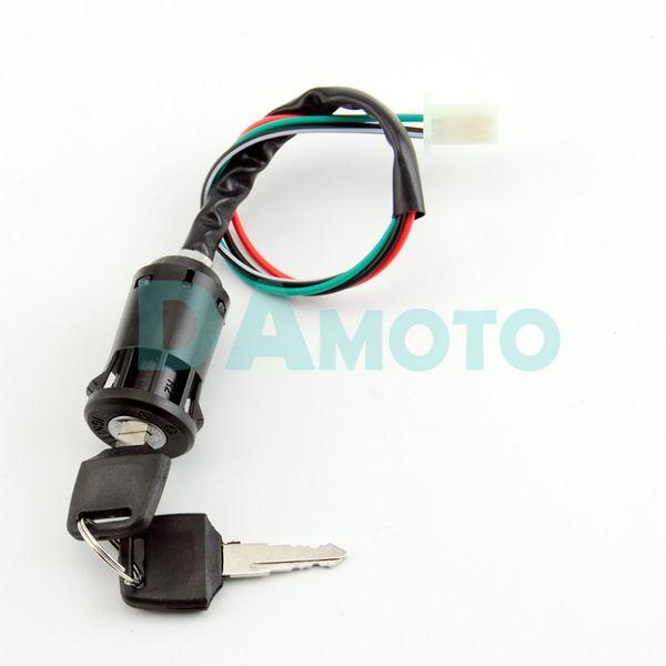 Llave de encendido de 4 hilos Interruptor de barril 50cc 110cc 125cc 250cc PIT Quad Dirt Bike ATV