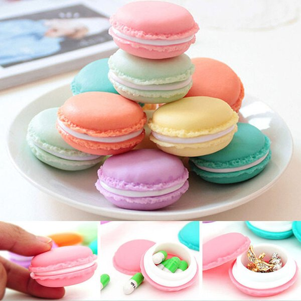 6 Pcs/Lot Plastic Carrying Pouch Display Box Mini Macarons Bag jewering Box Case
