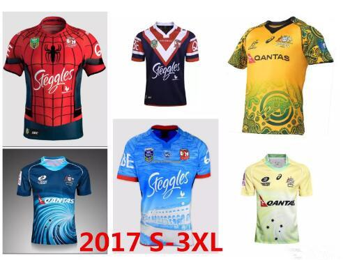 New Top 2017 Australia Rugby Jersey Rugby Shirt Football Maroons Men S-XXXL 2018 17 18 SThai Quality NRL National Rugby Sydney Roosters 3XL