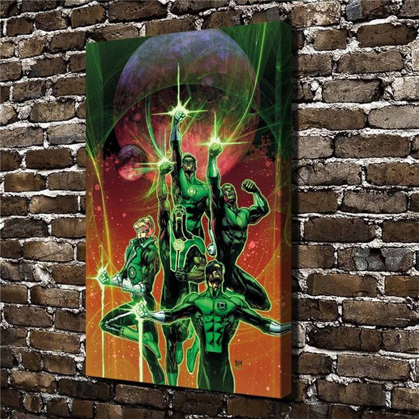 Super Hero Green Lantern,Home Decor HD Printed Modern Art Painting on Canvas (Unframed/Framed)