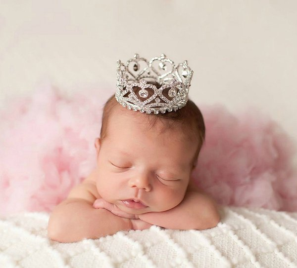 Ручной новорожденный Корона, фото опора / тиара, детская корона, фотография опора, Кристалл новорожденного фото опора, принцесса корона