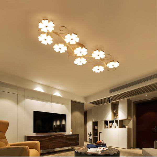 Großhandel Pflaumenblüte Kreative Moderne Led Deckenleuchten Für Wohnzimmer  Schlafzimmer Innen Acryl Deckenleuchte Leuchten Beleuchtung Plafonnier Von  ...