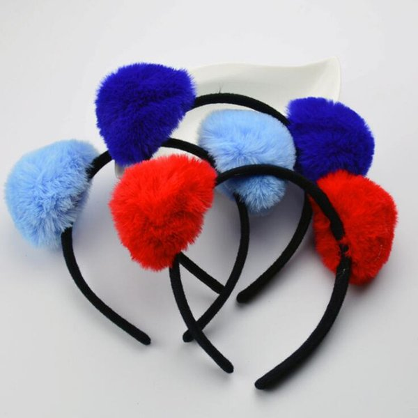 Plush Cat Animal Ear Headband Children Adults Panda Ears Hairband Birthday Party Hair Accessories