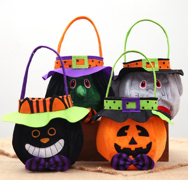 Sacs De Bonbons d'Halloween Sacs Sacs Titulaire Coloré Trick or Treat Sacs Sacs Hallowmas Cadeau Pour Enfants Événement Fête Fournitures Décor