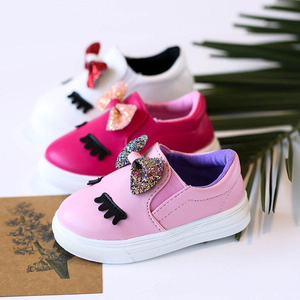 top popular Fashion new 2018 Spring Autumn toddler shoes baby shoe Children Casual Shoes cute sequin Girl Shoes Kids FootwearToddler wear A1655 2019