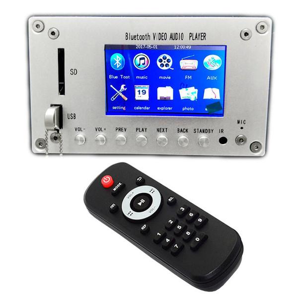 Bluetooth 4.2 3 Inç LCD MP3 Dekoder Kurulu Ses Alıcısı HD Video Oynatıcı DTS FLAC WAV APE Çözme FM Radyo Alarm Araba Için
