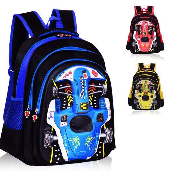 Cartoon 3D Auto Schultaschen Für Jungen Mädchen Kinder Rucksack Orthopädische Schultasche Grundschultaschen Kinder Rucksack Schultasche