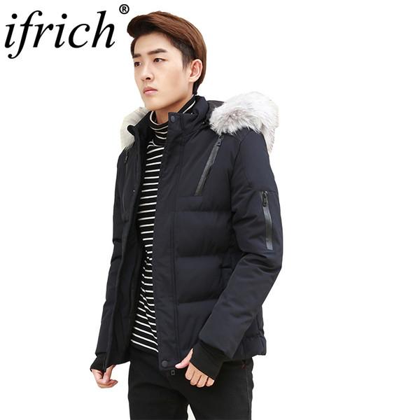 New Arrival Warm Winter Jacket Men Fur Hooded Casual Slim Parka Men's Coat Abrigo Hombre Invierno Windbreaker Men Clothing 2018