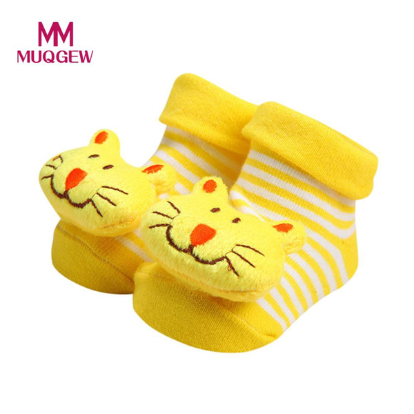 MUQGEW Baby Home Meias Anti-Slip Bonito Dos Desenhos Animados Bebê Recém-nascido Meias Meninas Meninos Anti-Slip Sapatos Chinelo Botas / PY