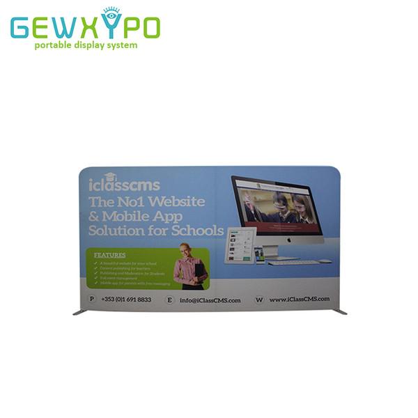 Стойка знамени ткани напряжения дисплея дисплея вывески выставочного стенда размера 10ft * 6ft с полноцветной графической печатью