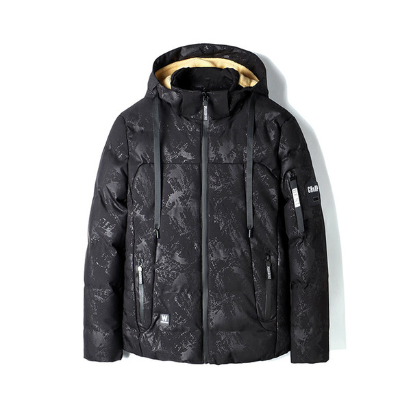 Fashion Business gentleman new winter camouflage printed cotton coat lamb hair thickening plus velvet warm cotton jacket