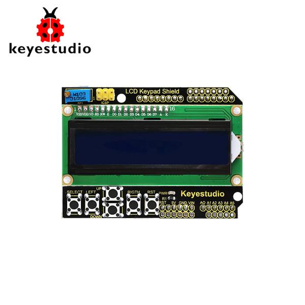 Keyestudio 1602lcd Keypad Shield For Arduino Lcd Display Atmega2560 For  Raspberry Pi Uno Blue Screen Blacklight Module Best Smart Home System Cheap