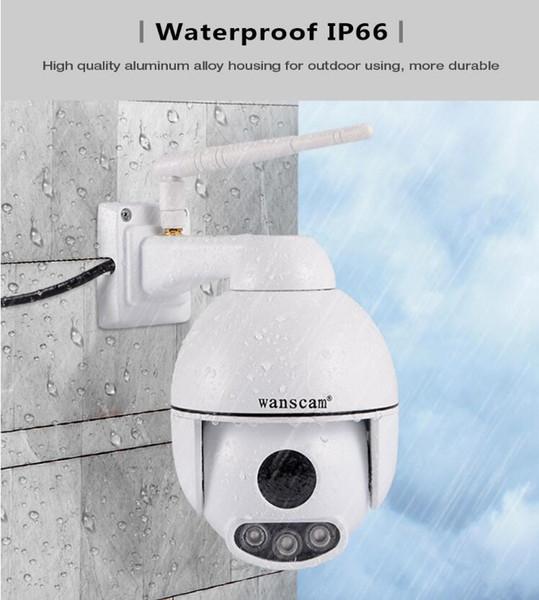 Wanscam HW0054 HD 1080P WiFi extérieure Caméra IP 5 fois Zoom optique P2P détection de mouvement bidirectionnelle Caméra audio vision nocturne