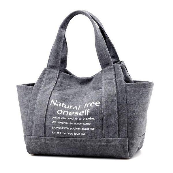 New Vintage Canvas Women Handbags Large Capacity Design Ladies Tote Bag Solid Shoulder Bag Casual Travel Bag Bolsos Mujer