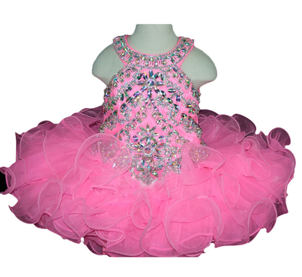BaoSai Baby Girls Princess Party Beaded Mini Infant Cupcake Pageant Dresses