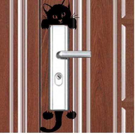 hot sale New Cute Cat Wall Stickers Light Switch Decor Decals Art Mural Baby Nursery Room C0120