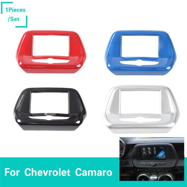Panneau de navigation Cache petit écran de 6,5 po pour Chevrolet Camaro 2017+ Car Styling ABS 3 couleurs Accessoires intérieurs