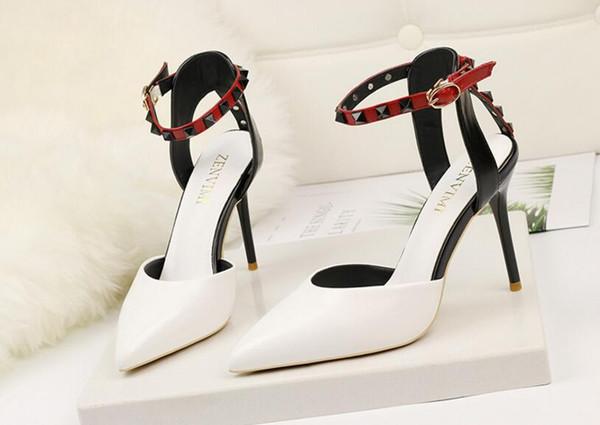 Factory Price Sexy Gladiator High Heels 10CM Women Pumps Wedding Dress Shoes Woman Valentine Stiletto High Heels Shoes