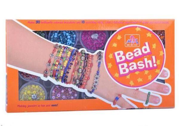 DIY Armband Geschenkbox mit losen Perlen und Saiten für Kinder Kinder Schmuck Kindertag DIY Gumball Perlen