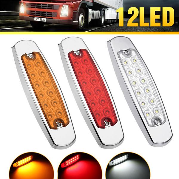 2Pcs Truck LED luce laterale luce di sicurezza 12LED 24V Car Marker Indicatore luci laterali posteriori LED Spie universali