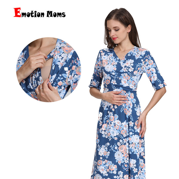 f1bc9a868 Las madres de la emoción Vestido de lactancia materna Vestido de fiesta  Vestido de maternidad para