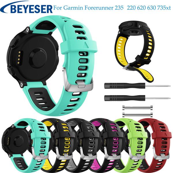 top popular Soft Watchband For Garmin Forerunner 735 Replacement Wrist Watch Band bracelet strap For Garmin Forerunner 220 230 235 620 630 2020