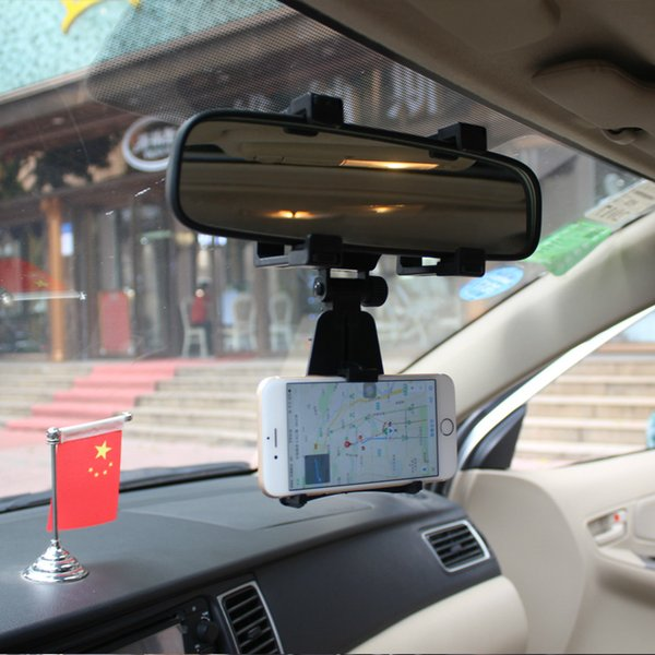 Universal Car Rearview Mirror Mount Cell Phone Holder For Xiaomi iPhone Samsung car accesories clip cute phone mount