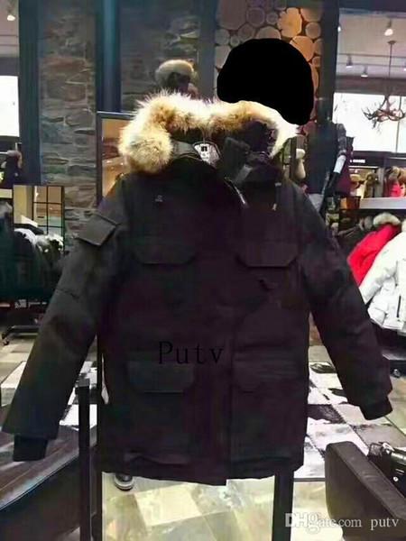 cheap man Winter Sports 90% White GOOSE Down Warm Parka Down Jacket Men's Outdoor Sports Casual Hardy European Size Classic Parka Jacket