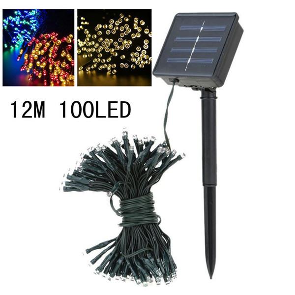 12m 100m led Solar Lamp Outdoor Christmas Decoration Solar Festival Lantern string popular style