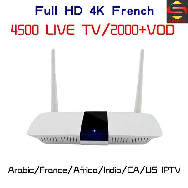 Q11 World IPTV Subscription 4500 Live TV France Arabic Germany Spain Italy Dutch Canada American Brazil M3U Android 6.0 TV Box