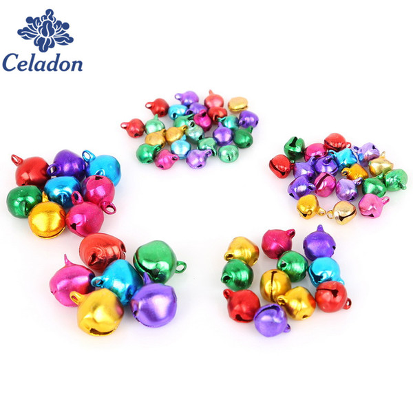 Pick 6mm 8mm 10mm 12mm 14mm Mix Colors Loose Beads Small Jingle Bells Christmas Decoration Gift Wholesale