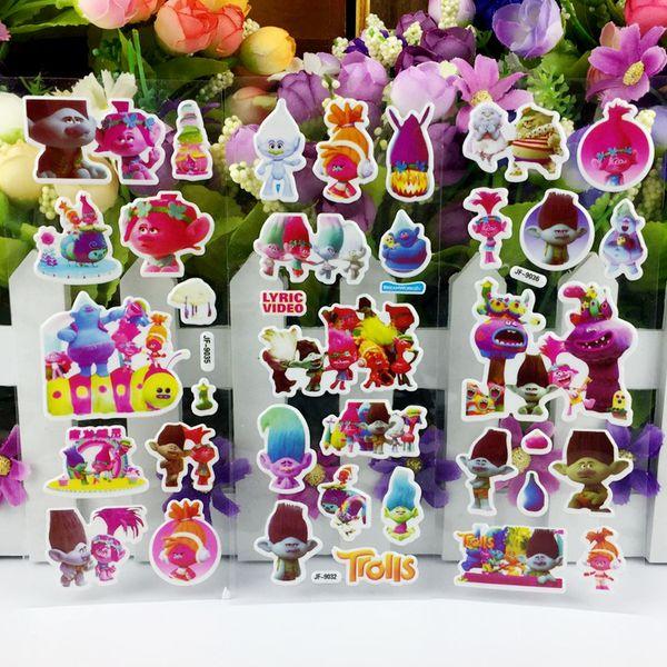 2019 Cartoon Trolls Wall Stickers Toys Magic Hair Elves Bubble Sticker Teacher Lovely Reward Kid Party Decoration Favor Gift From Hurongwang25 0 3