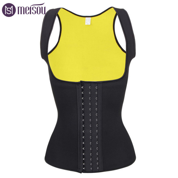 Unisex Sauna Waist Trainer Top Yellow Double Layer Waist Trimmer Belt Hooks Body Shaper Hot Shaping Body Waist Shapers Trainer