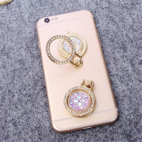 Novo telefone móvel anel de metal de luxo anel de dedo de diamante titular do telefone para iphone xiaomi huawei todos os anéis de dedo móvel smartphone