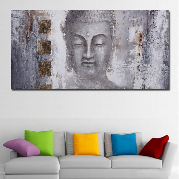 1 Piece Large Size Canvas Art Abstract Art Buddha Painting Wall Art For Living Room Home Decor Print Painting No Framed