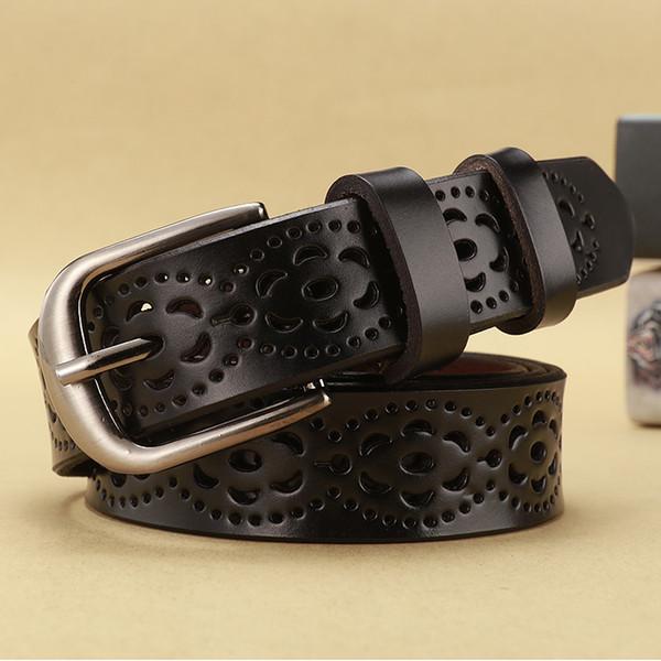 Men/'s Women/'s Genuine Leather Western Belt