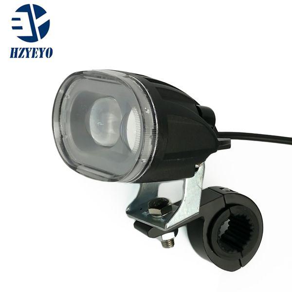 HZYEYO Universal Duplo LED Motocicleta Farol de Moto de Condução Ponto de Nevoeiro Cabeça correndo Luz Spotlight Assist Lamp Moto P-012