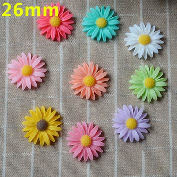 200pcs/lot Resin cartoon Daisy flatback Scrapbooking Cabochon DIY for Hair Bow rope /headwear/Crafts Frame Making Embellishments Craft