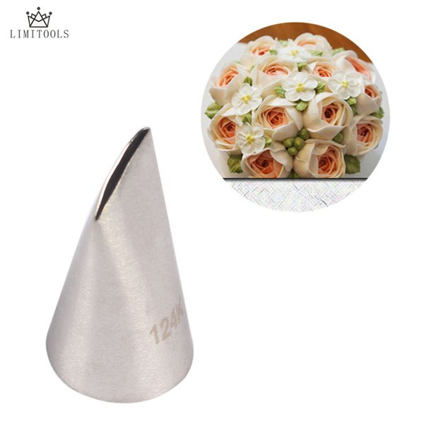 LIMITOOLS #124K Austin Rose Cake Decorating Tip Sugar Craft Stainless Steel Icing Piping Pastry Nozzles For Cream